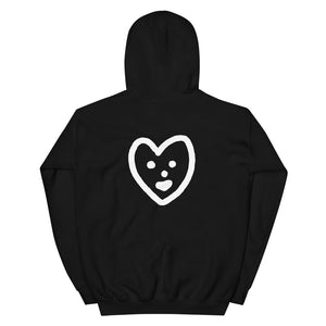 JACK THE GRIM Love Heart Hooded Sweatshirt