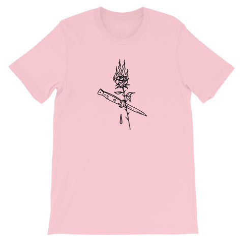 ROSS HELL Rose and Dagger Short-Sleeve Unisex T-Shirt