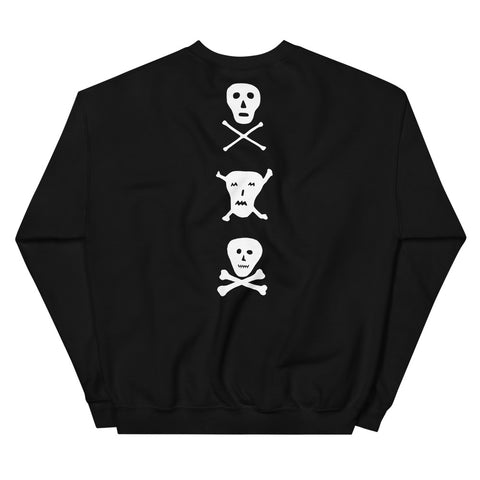JACK THE GRIM Mini Skulls Unisex Sweatshirt