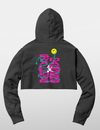 Women's Smiley Cropped Hoodie - Black