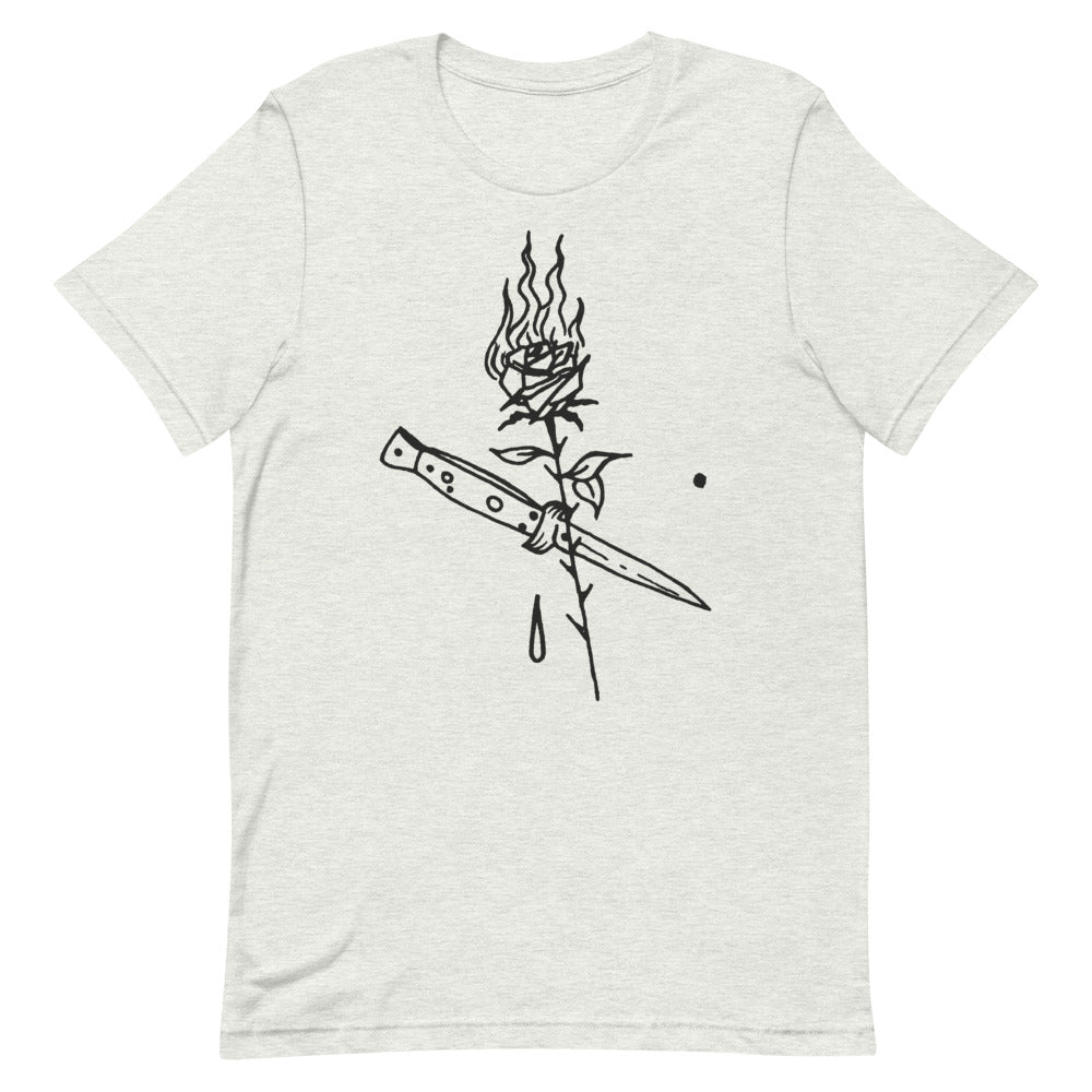 Ross Hell Dagger Rose - UNISEX T-shirt