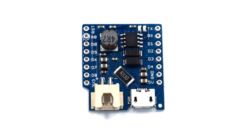 Wemos D1 Mini Battery Shield-Transweb Electronics
