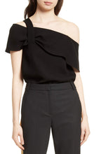 TIBI Draped One-Shoulder Top