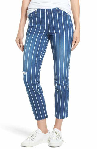 BLUE STRIPE LEGGINGS