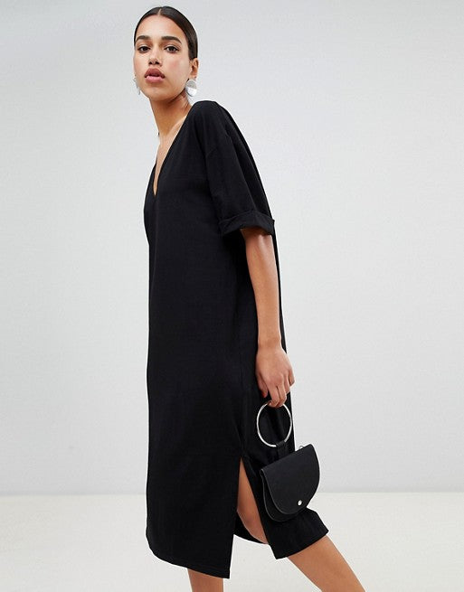 online for sale distinctive style luxury fashion Boohoo Oversized Midi T-Shirt Dress