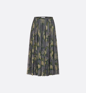 PRINTED COTTON TULLE SKIRT