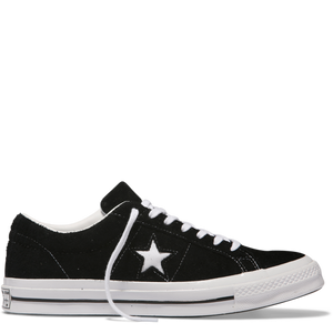 One Star Premium Suede Low Top Black Black White