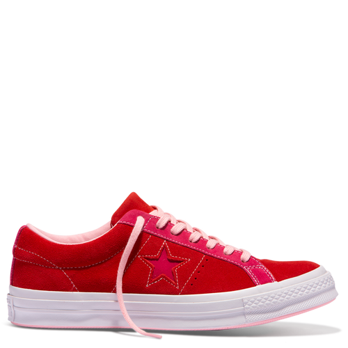 One Star Carnival Low Top Enamel Red Pink Pop