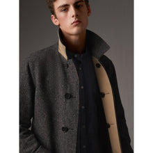 Reversible Gabardine and Donegal Tweed Car Coat