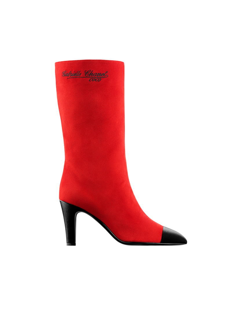 High boots (bright red & black)