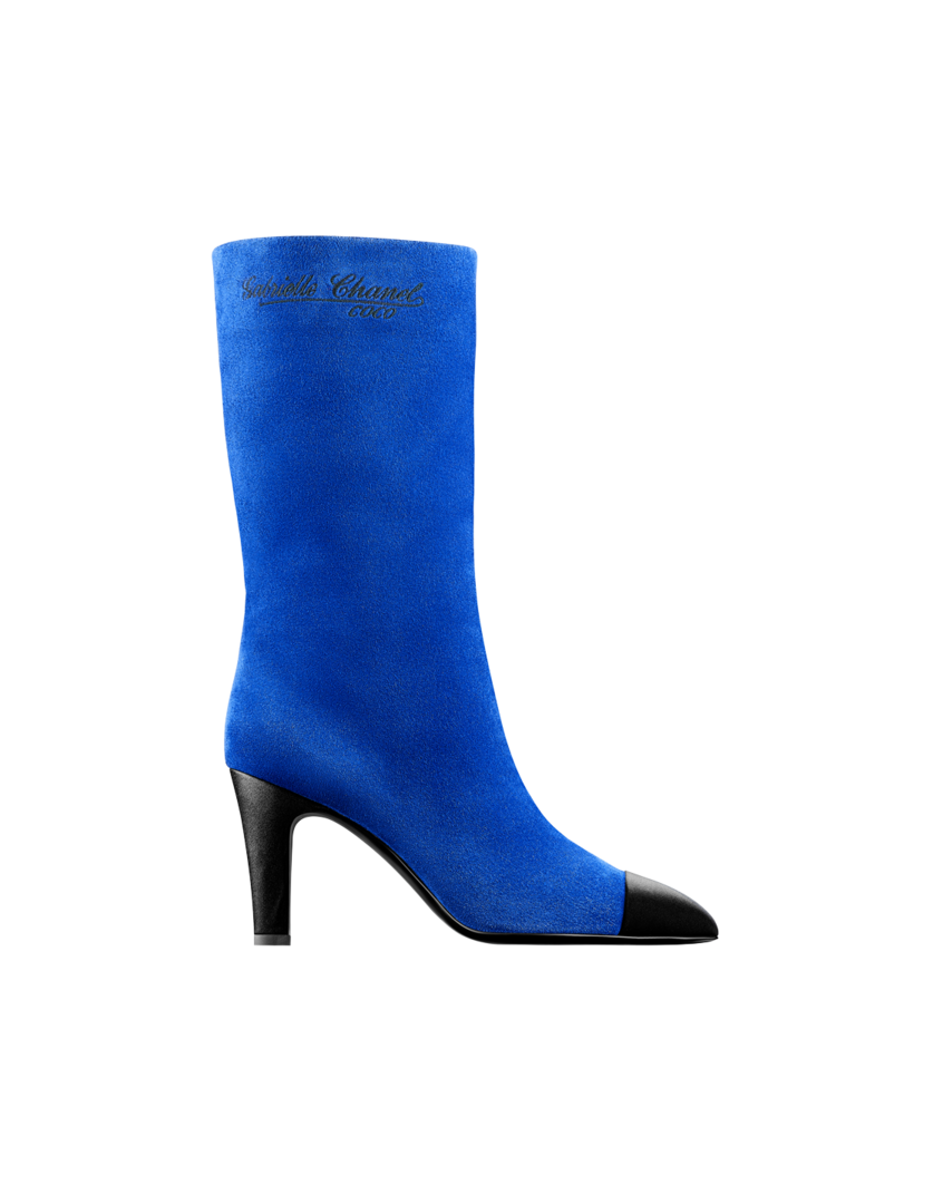 High boots (royal blue & black)