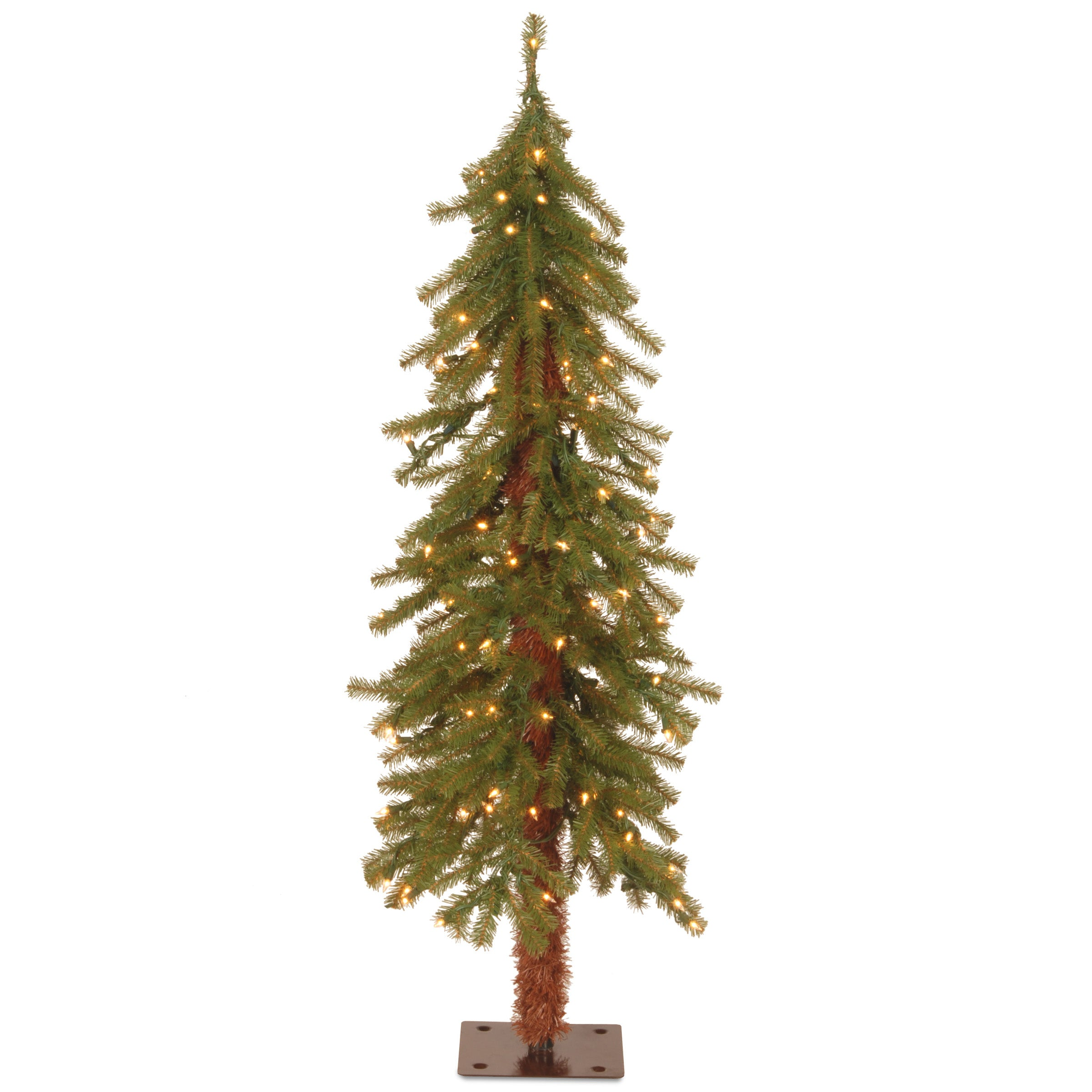 National Tree Ced7-40lo-s 4' Hickory Cedar Tree With 100 ...