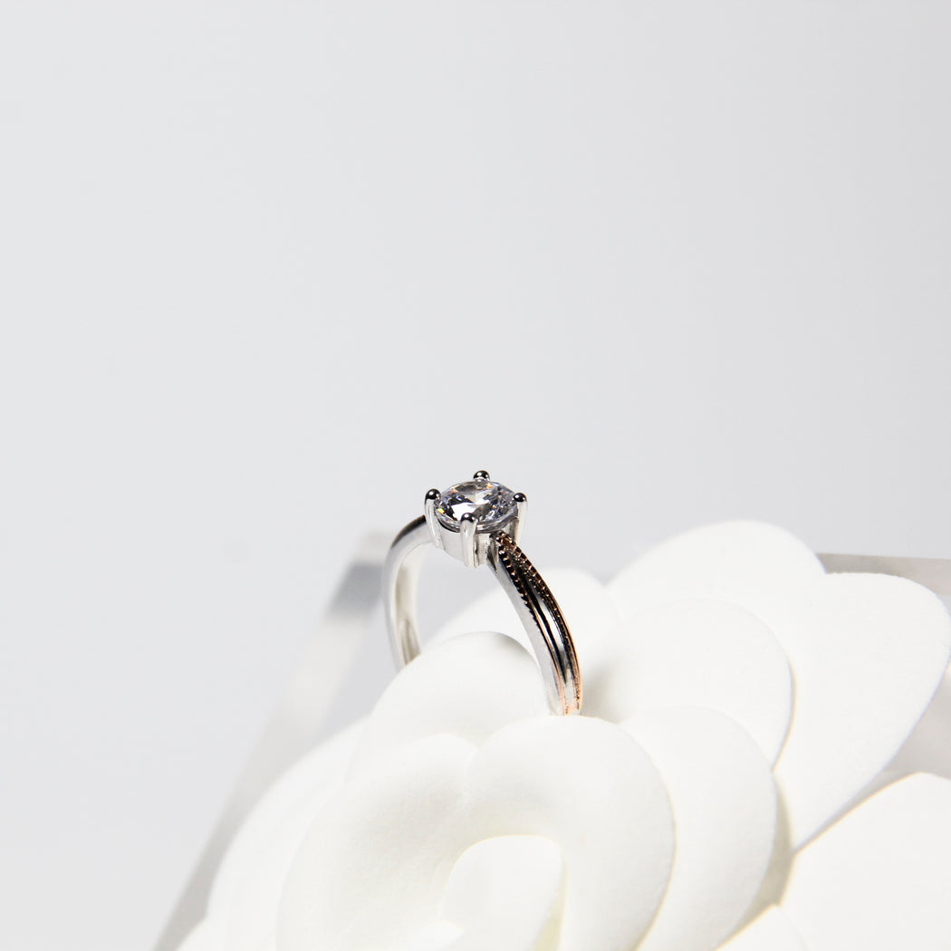 Round Cut 0.6 Carat Solitaire Ring
