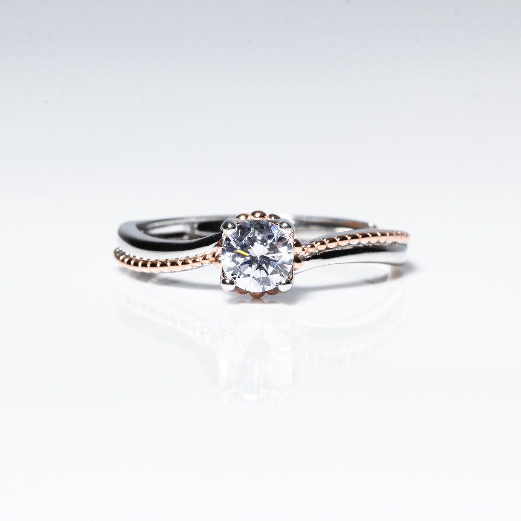 Rose Gold Twist 0.5 Carat Solitaire Ring