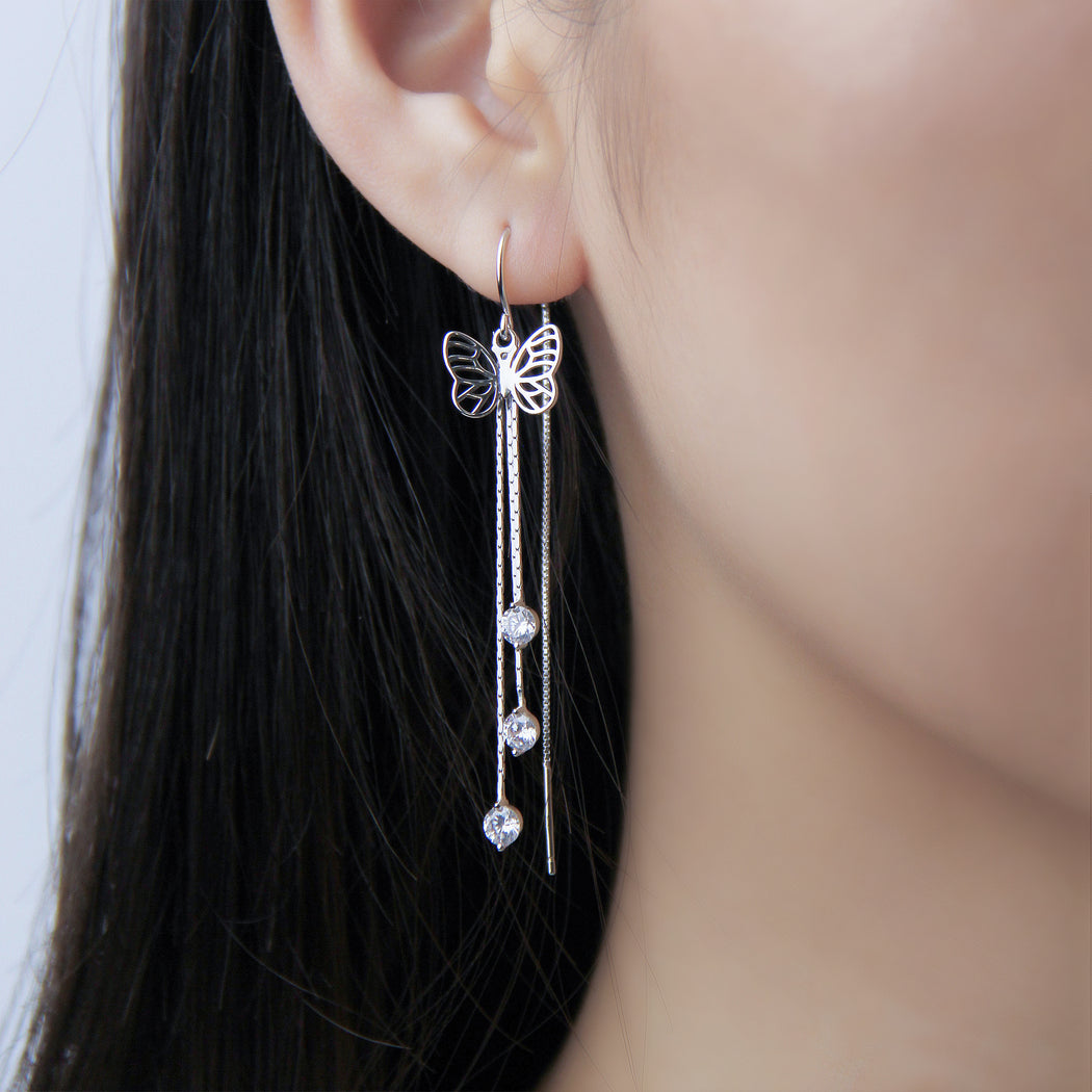 Butterfly Threader Earrings