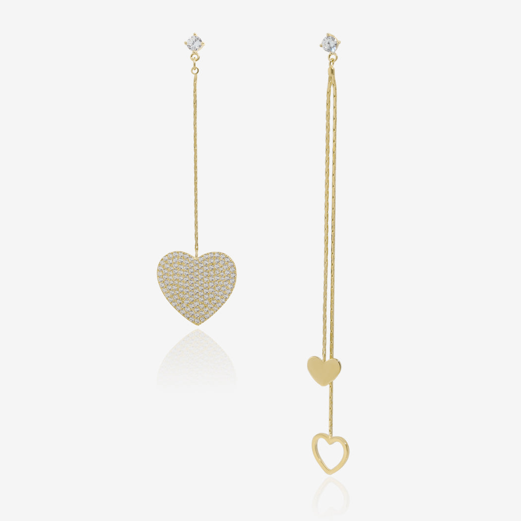 Hearts Mismatched Earrings