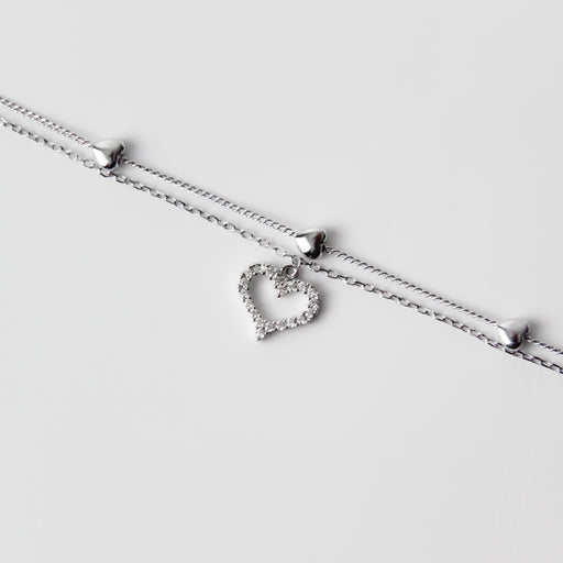 Hearts Double Layer Bracelet