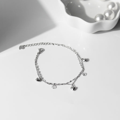 Dainty Heart Double Layer Bracelet