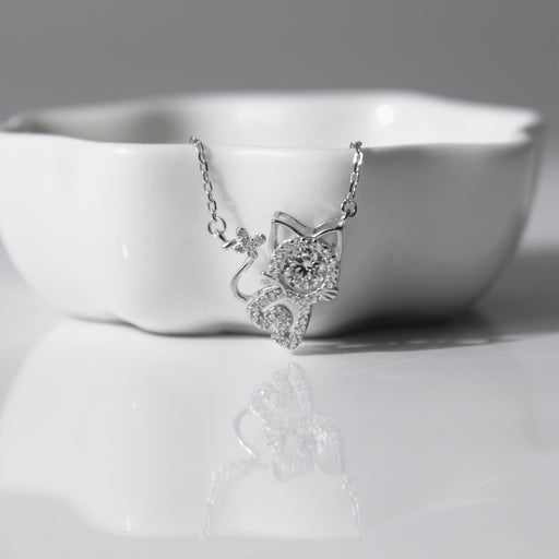 Cat Charm Pendant Necklace