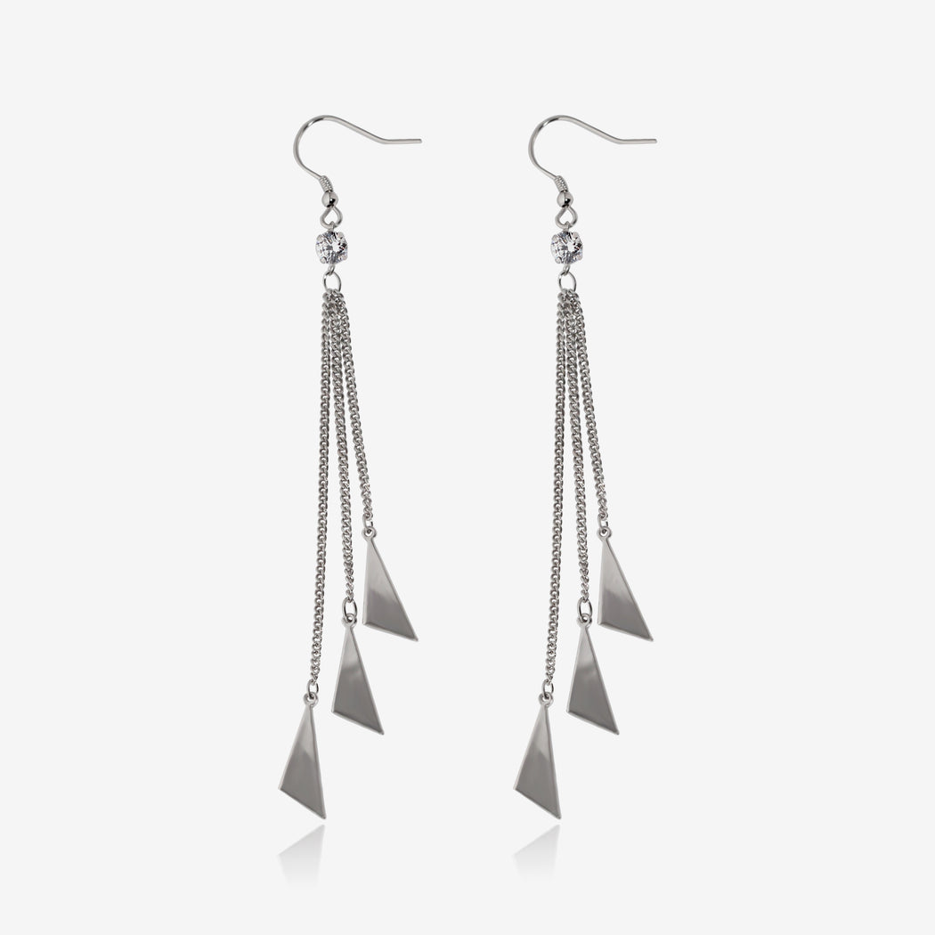 Simple Triangle Dangle Earrings