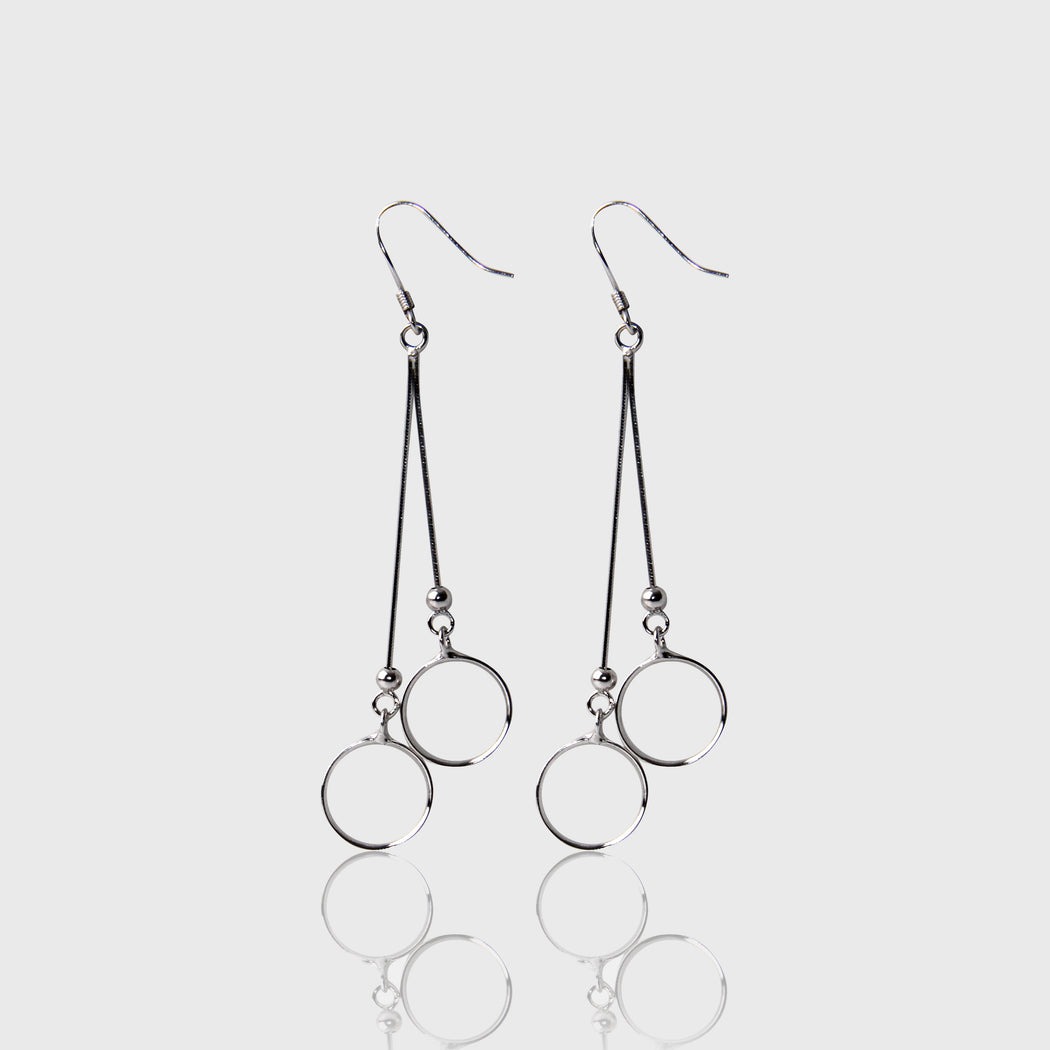 Circle Dangle and Drop Earrings