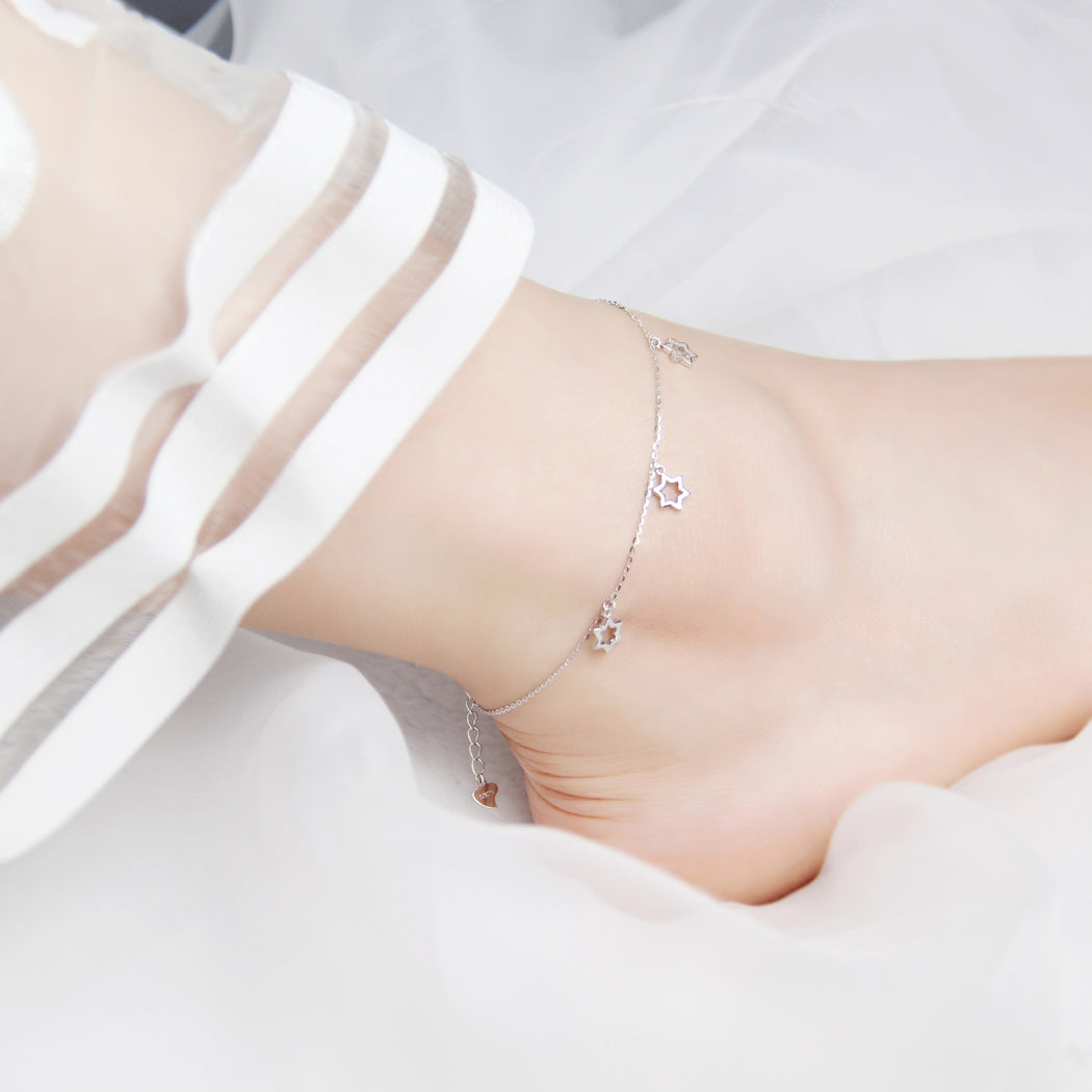 Star of David Anklet Bracelet