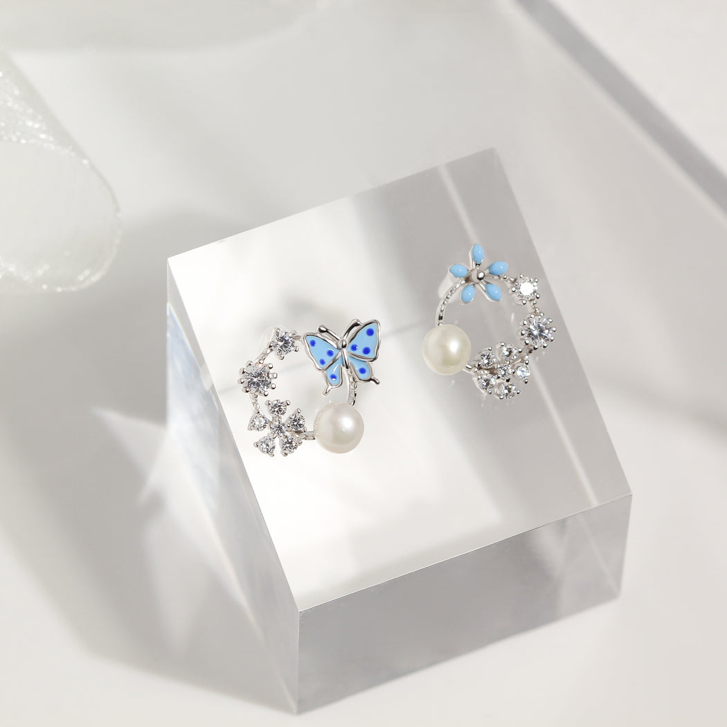 Butterfly Flower Earrings