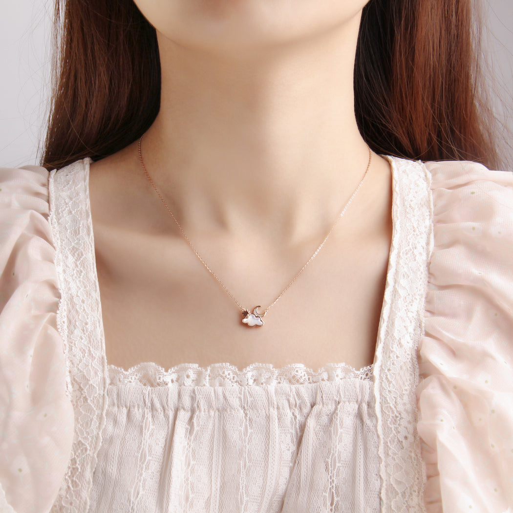 Moon Star Cloud Choker Necklace