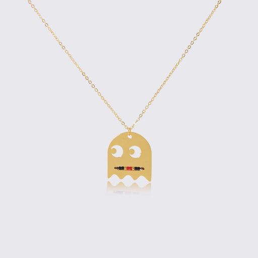 Pac-Man Ghost and Flower Necklace