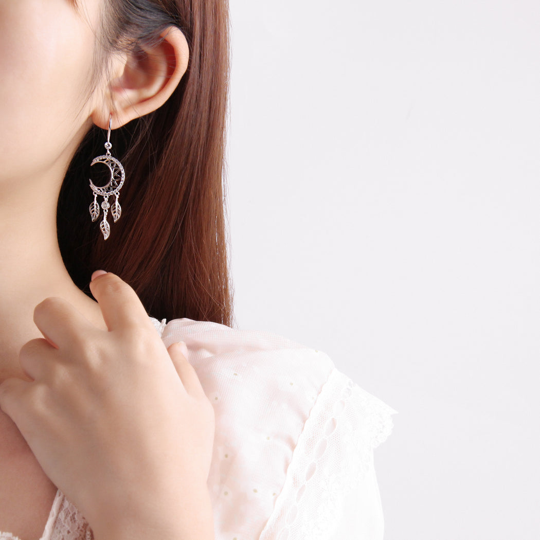 Crescent Moon Dreamcatcher Earrings
