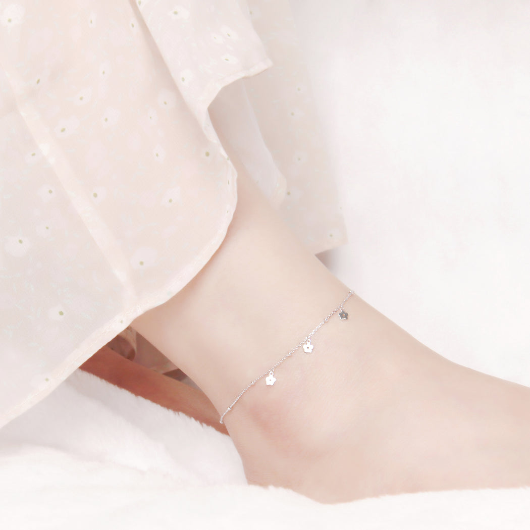 Tiny Flowers Anklet