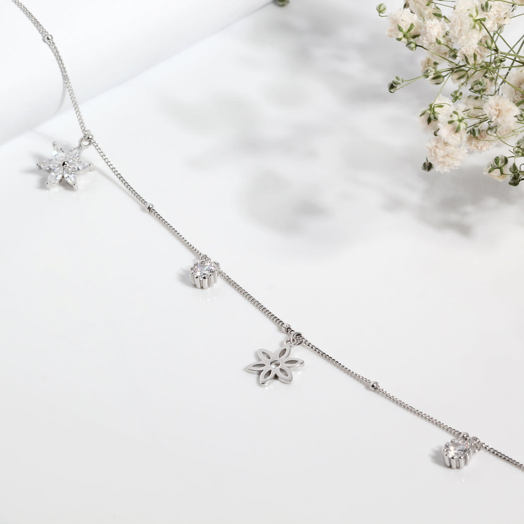 Flowers Charm Anklet