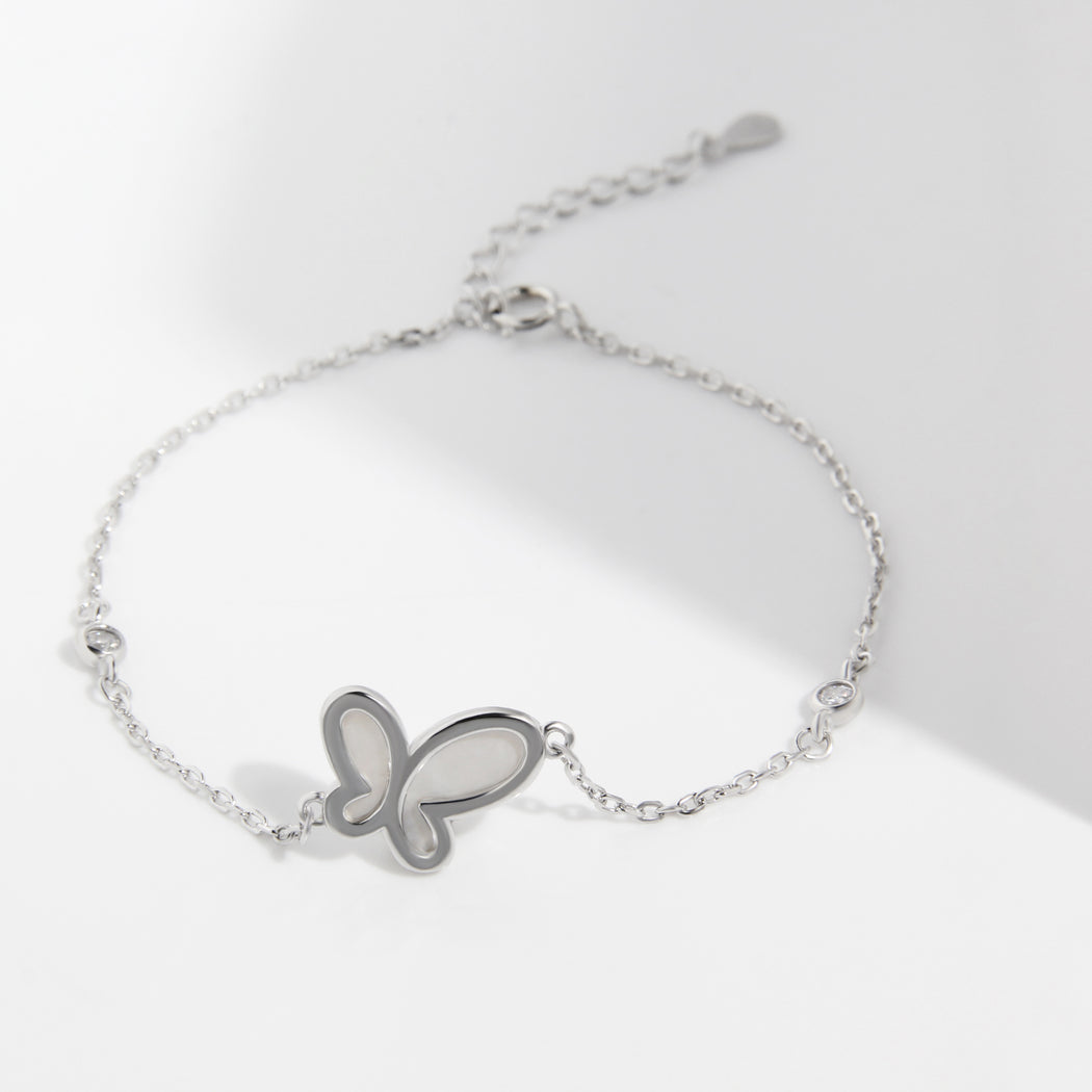 Simple Butterfly Mother of Pearl Bracelet