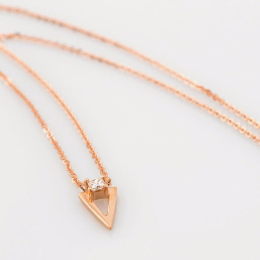 18K Rose Gold Triangle Necklace