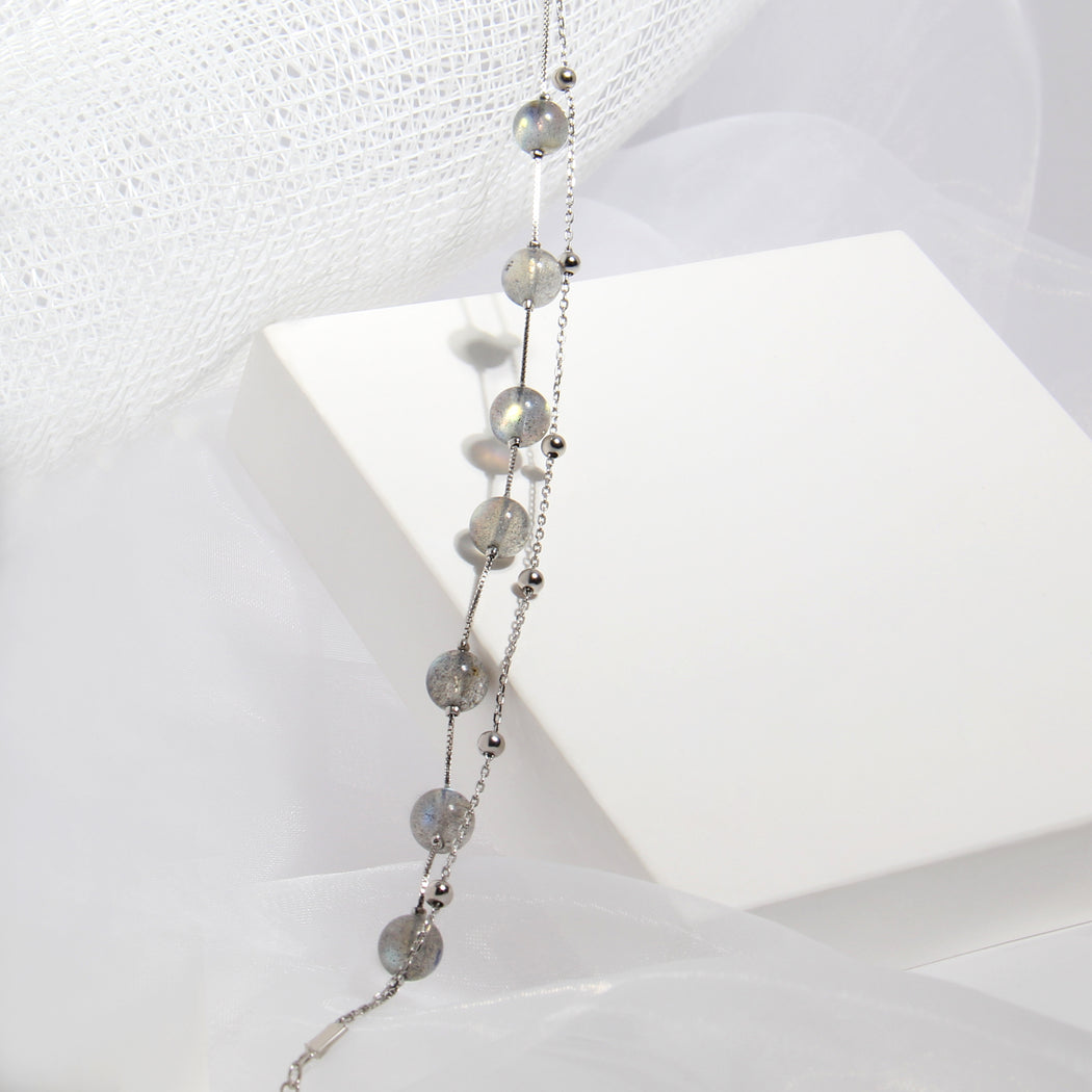 Moonstone Double Layer Bracelet