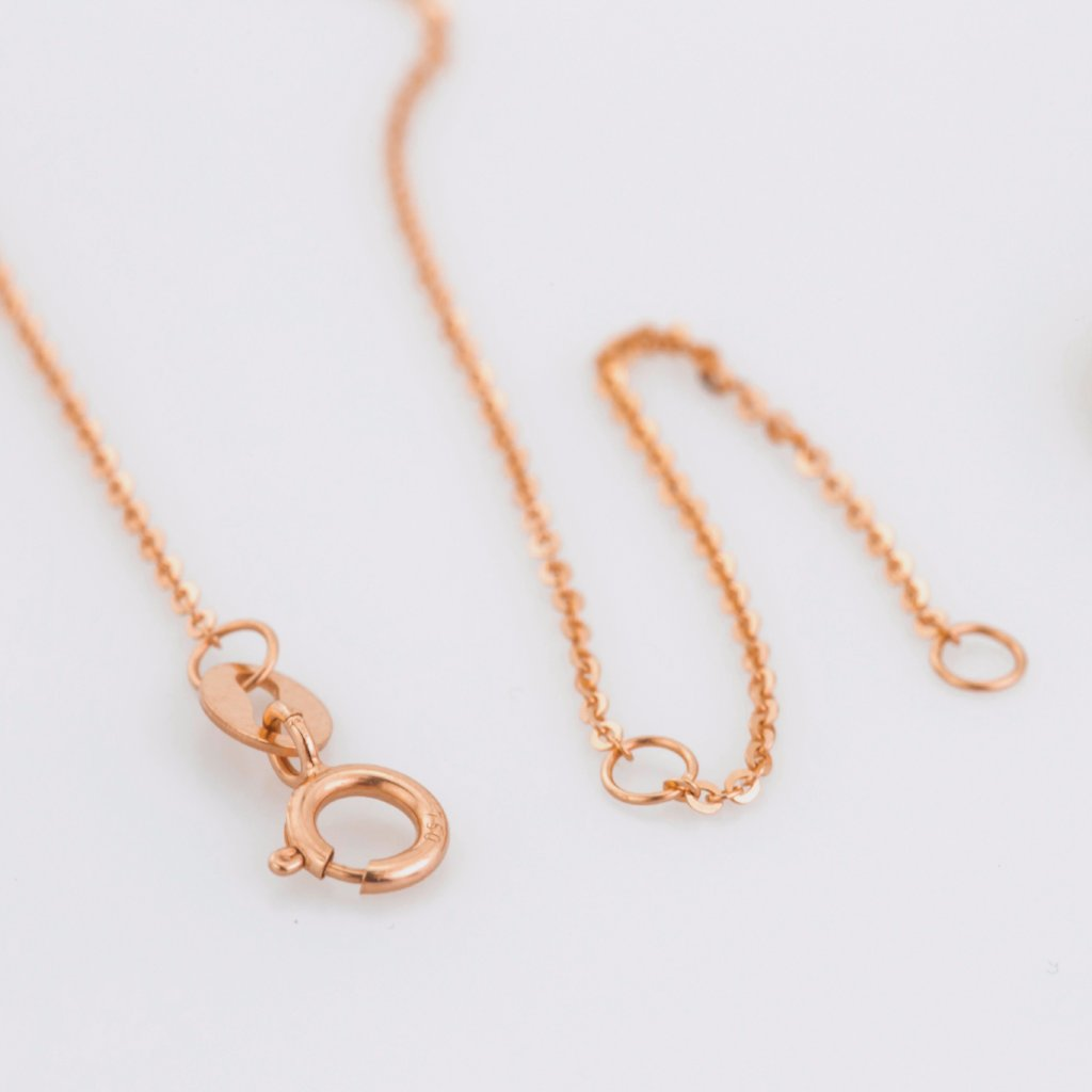 18K Rose Gold Half Moon Pendant