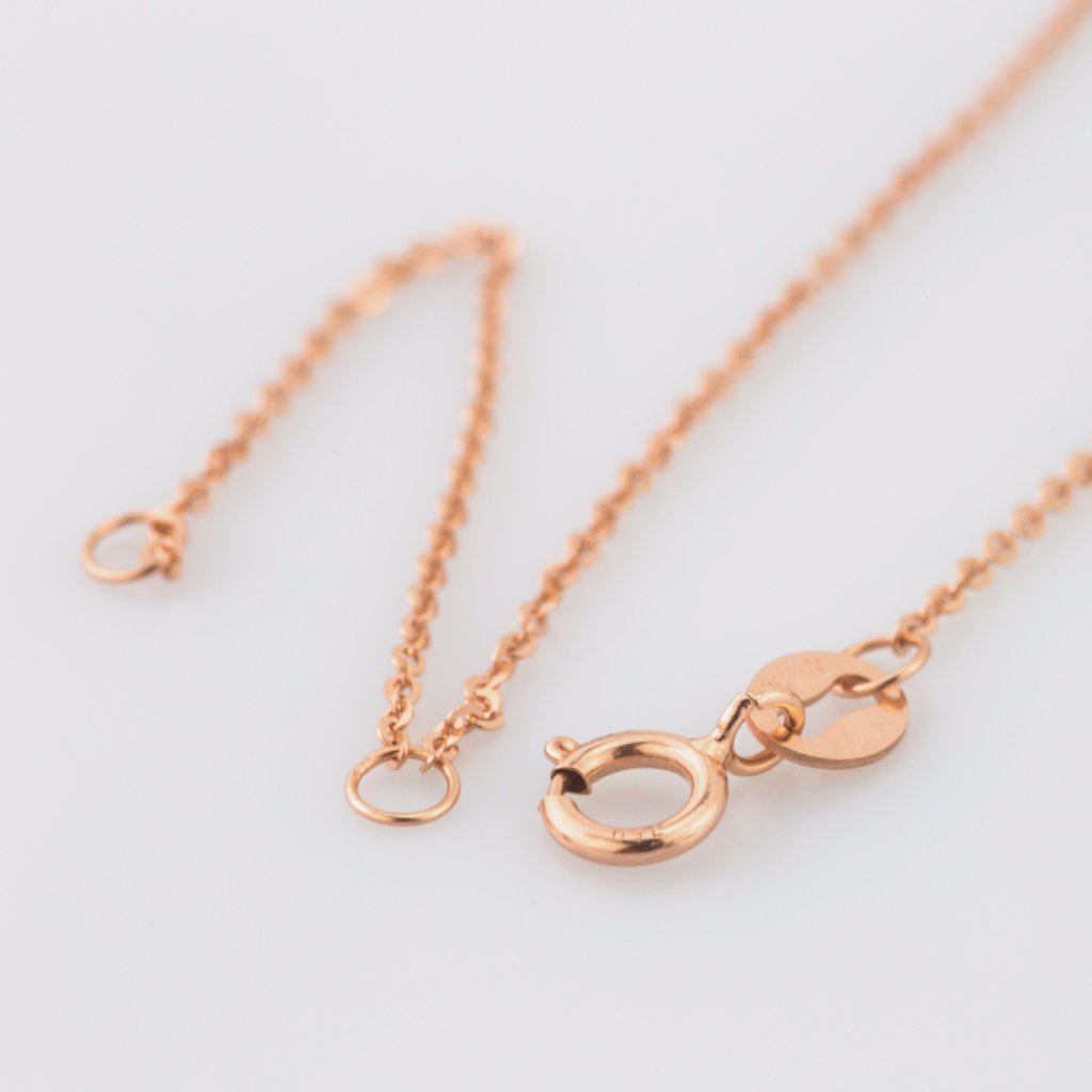 18K Rose Gold Circle Motion Necklace