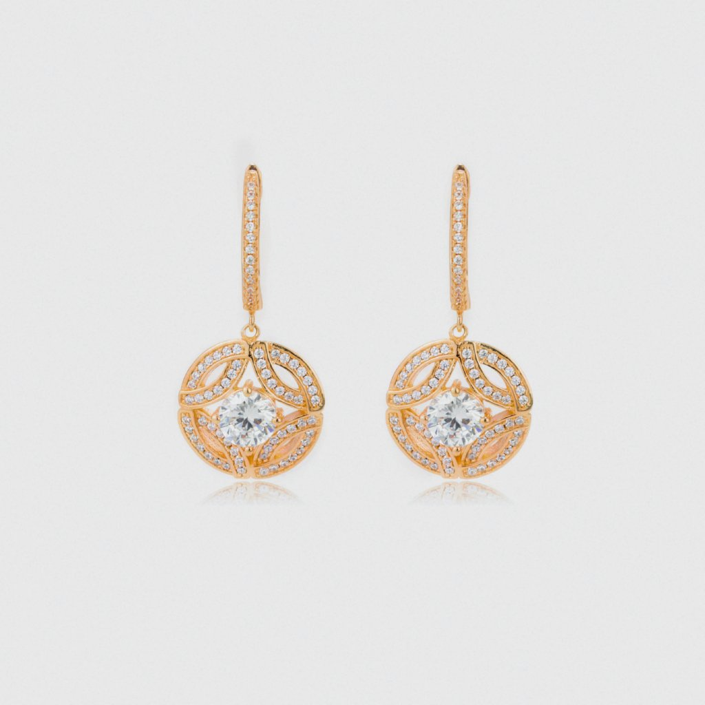 Classy Round Earrings