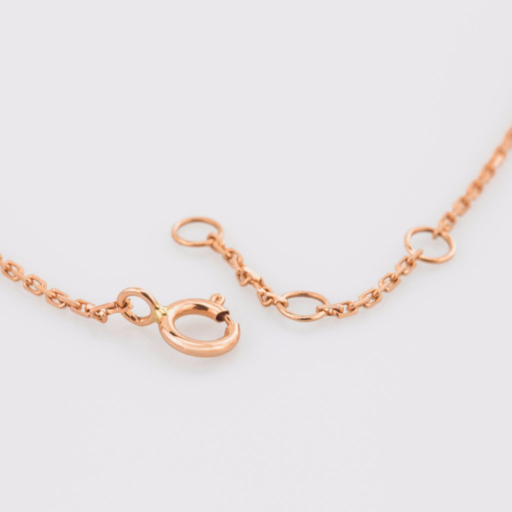 18K Rose Gold Tiny Heart Bracelet