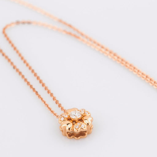 18K Rose Gold Flower Pendant