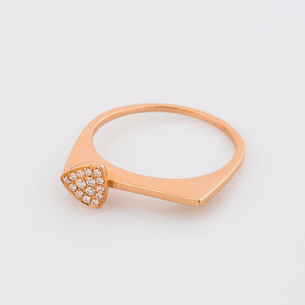 18K Rose Gold Beautiful Edge Ring