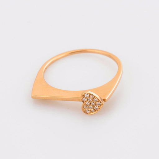 18K Rose Gold Beautiful Heart Ring