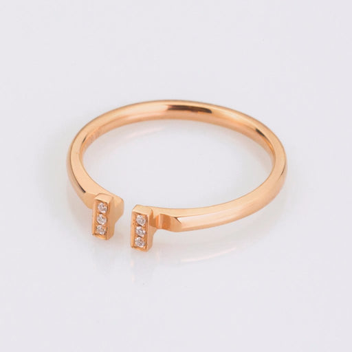 18K Rose Gold Pendant Ring