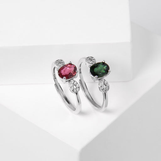 Infinity Oval Tourmaline Ring