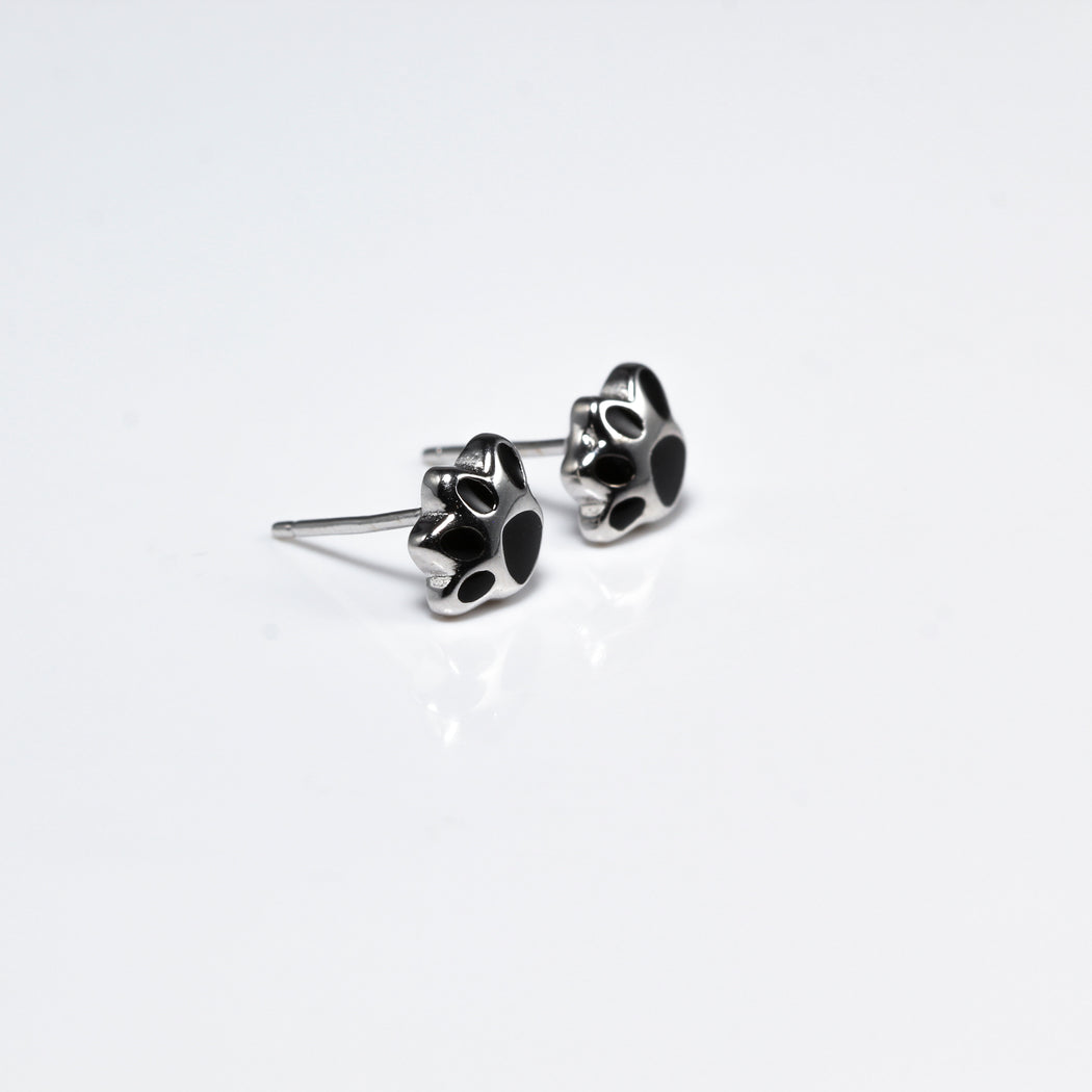 Black Paw Earrings