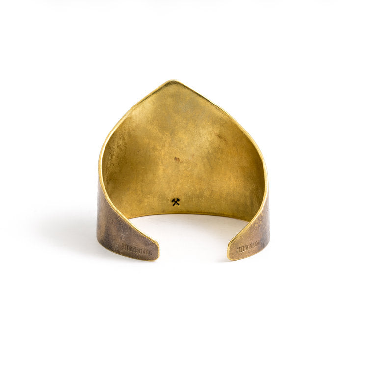 Amelia Cuff - American Brass with Work Patina - Studebaker Metals