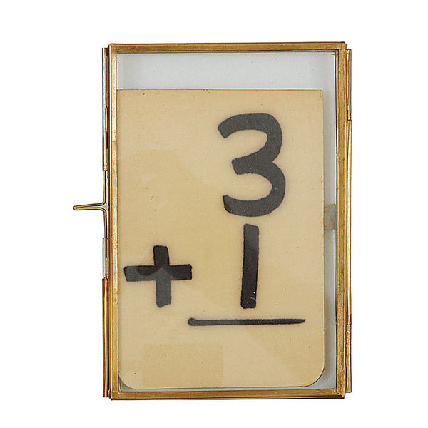 4x6 Brass Photo Frame with Slide Lock Closure