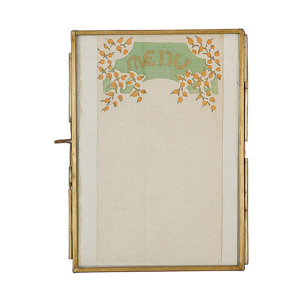 5x7 Brass Photo Frame with Slide Lock Closure