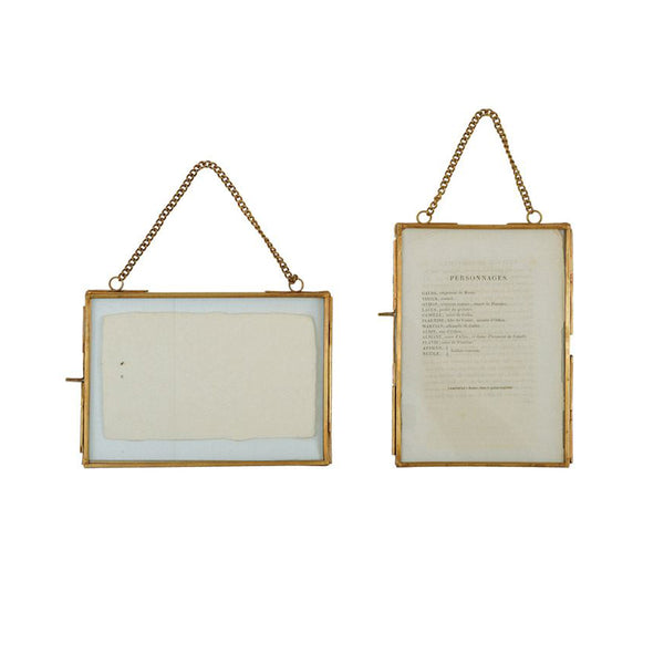 5x7 Brass Hanging Photo Frame with Chain