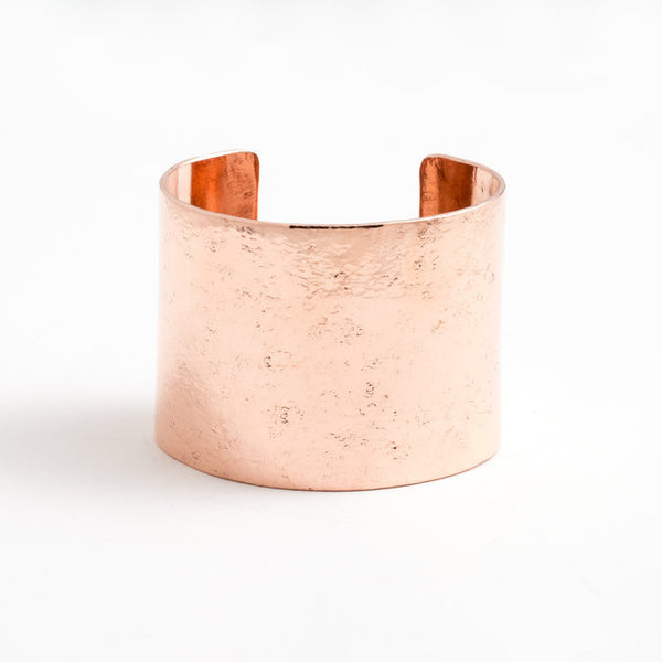 2 inch Broad Cuff - Polished Copper - Studebaker Metals
